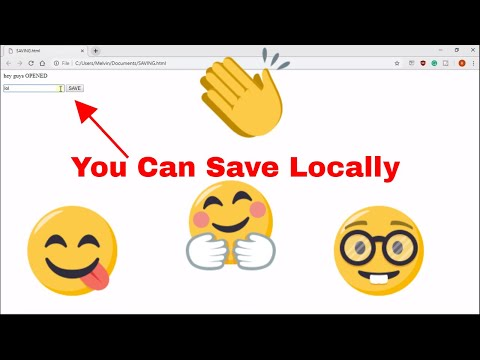 How To SAVE DATA/INFORMATION In JavaScript/HTML