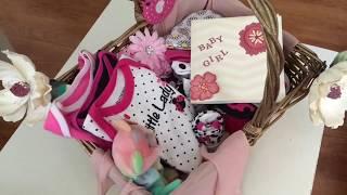 DIY baby shower gift basket || Gift basket idea