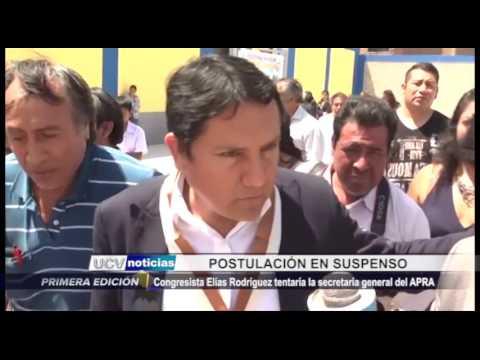 Trujillo: Postulación a la secretaría general del APRA en suspenso