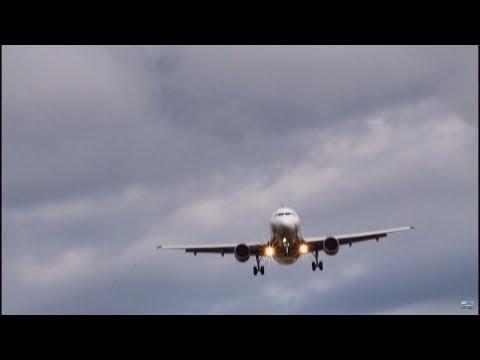 *Valletta livery* Malta Airbus A320 landing RWY 28 at Zurich ¦ Flexi Aviation   HD