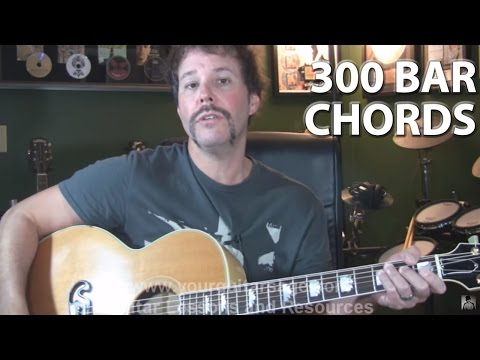 Learn Over 300 Bar Chords on the Guitar Part 1