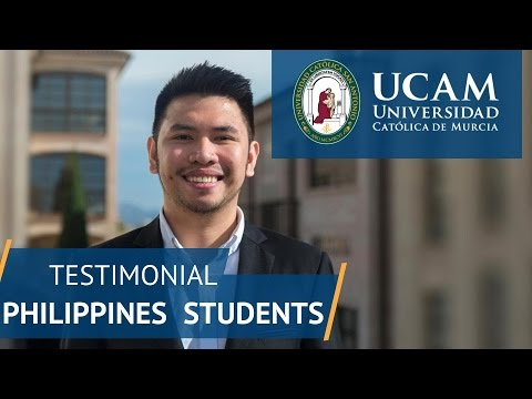 Testimonial Philippines Students | UCAM Catholic University of Murcia