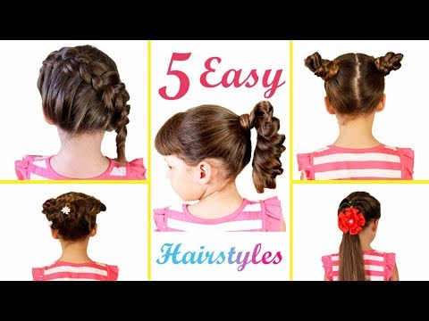 Download Video 5 Simple Cute Hairstyles For Long Hair 5 Minute