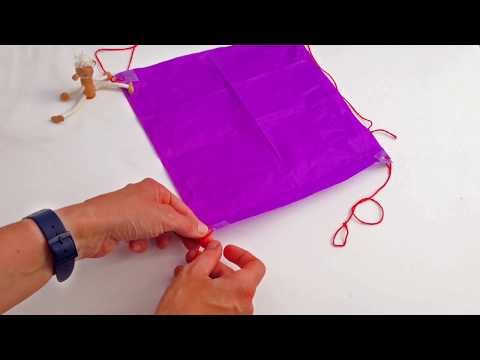 Make A Tissue Paper Parachute - STEM Activity