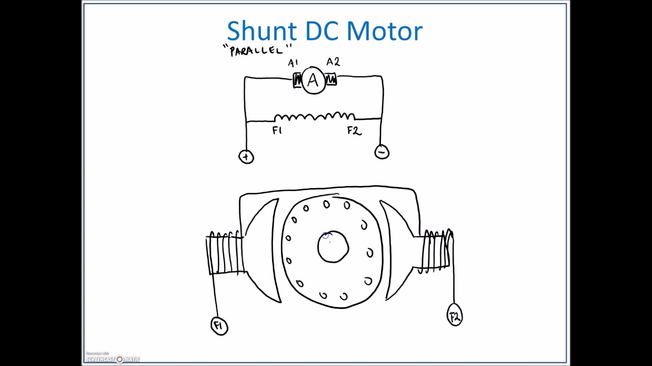 shunt dc motor connections youtube rh youtube com DC Motor Schematic Diagram dc servo motor connection diagram