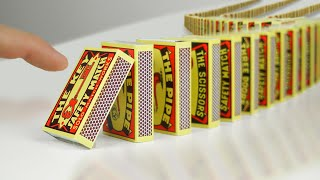 I Built The Largest MATCHBOX Domino