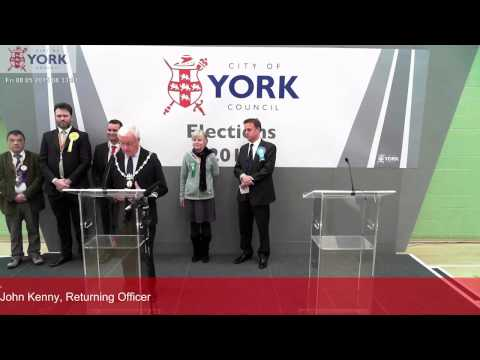 Declaration of 2015 York parliamentary election results
