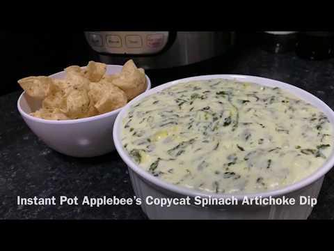 Instant Pot Applebee's Copycat Spinach Artichoke Dip