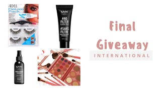 CLOSED Makeup Giveaway | International Giveaway | Part 4 of 4 final CLOSED