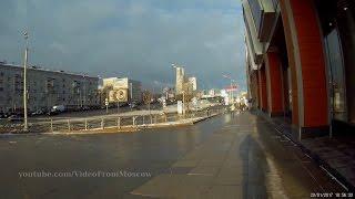 Наземный переход на станцию Балтийская Московского Центрального Кольца  20.01.2017
