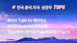 [한국.중국.미국 성장주TOP6]하이브.TigerFn메…