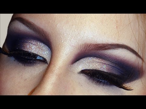 Sultry Smokey Glitter Cut Crease Makeup Tutorial