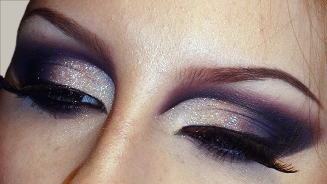 Sultry Smokey Glitter Cut Crease Makeup Tutorial Bridal