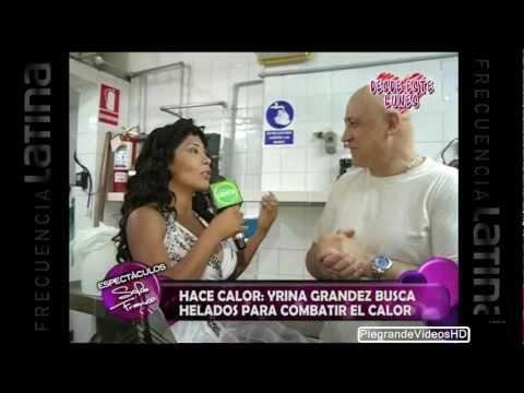Irina Grandez coqueta y descarada en heladeria