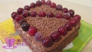 Быстрый торт без выпечки Шоколадный Обалденный рецепт (Awesome Chocolate Cake Without Baking)