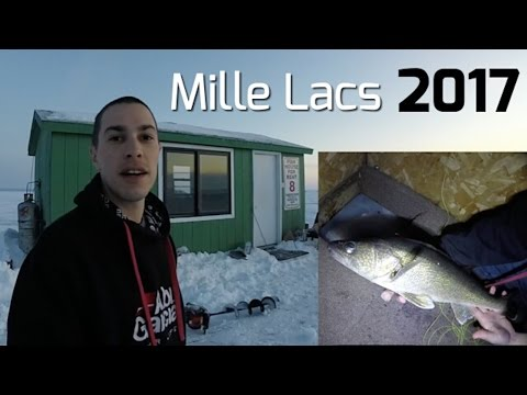 Ice Fishing Mille Lacs Lake 2017 - Overnight Sleeper