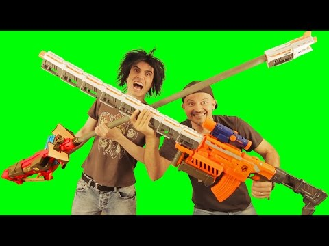BIG ASS NERF GUNS!! Remix