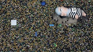 مظاهرات في البرازيل للمطالبة برحيل رئيسة الدولة (فيديو)