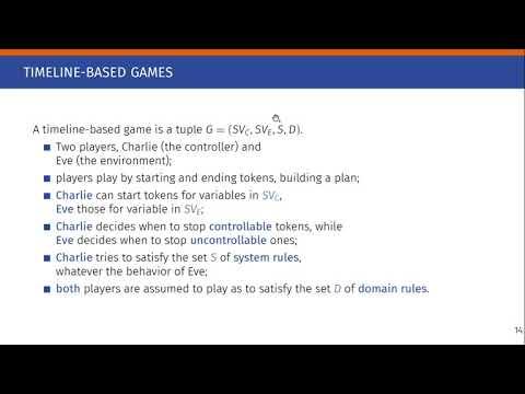"ICAPS 2020: Gigante et al. on ""On timeline-based games and their ..."
