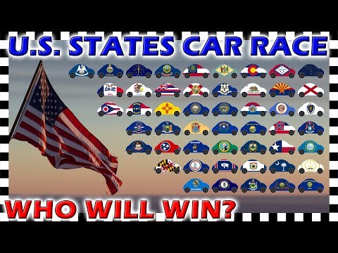 Country Cars U.S. States Race - Algodoo Car Race