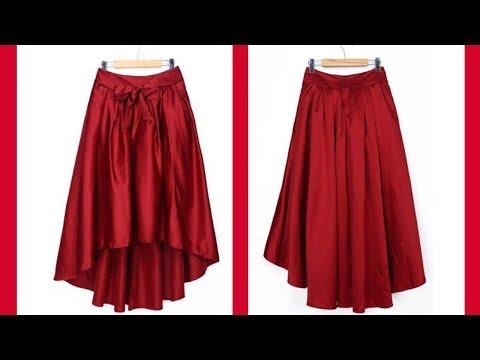 C чем и как носить атласную красную юбку