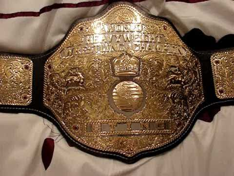 Custom WCW Heavyweight Championship BIG GOLD Title Belt Leather wrestling NWA