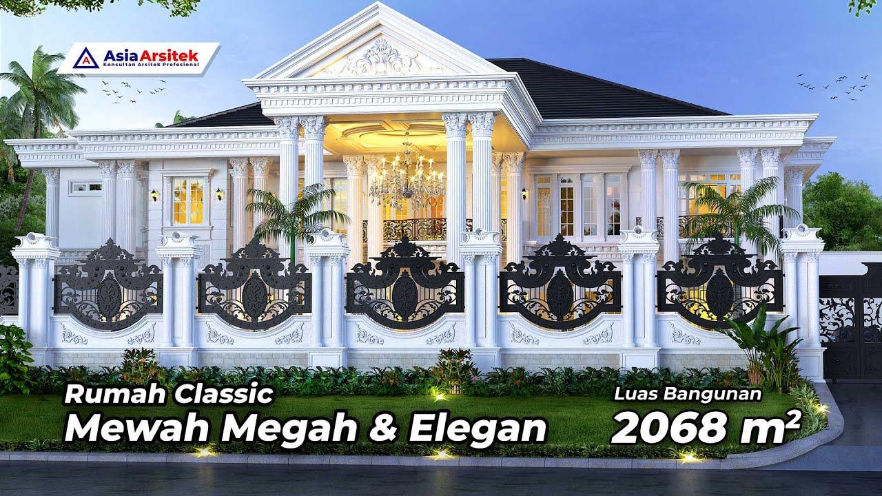 Woww Desain Rumah Classic Mewah 2 Lantai Youtube