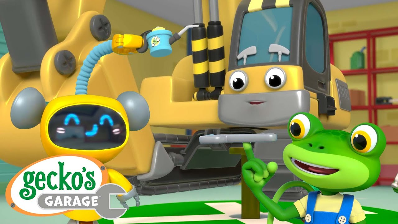 Eric the Excavator's Service | Gecko's Garage | Trucks For Children | Cartoons For Kids