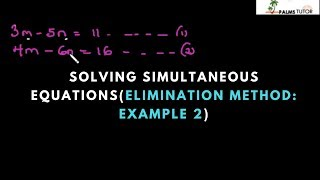 How to Solve Simultaneous Equations (Elimination method: example 2)