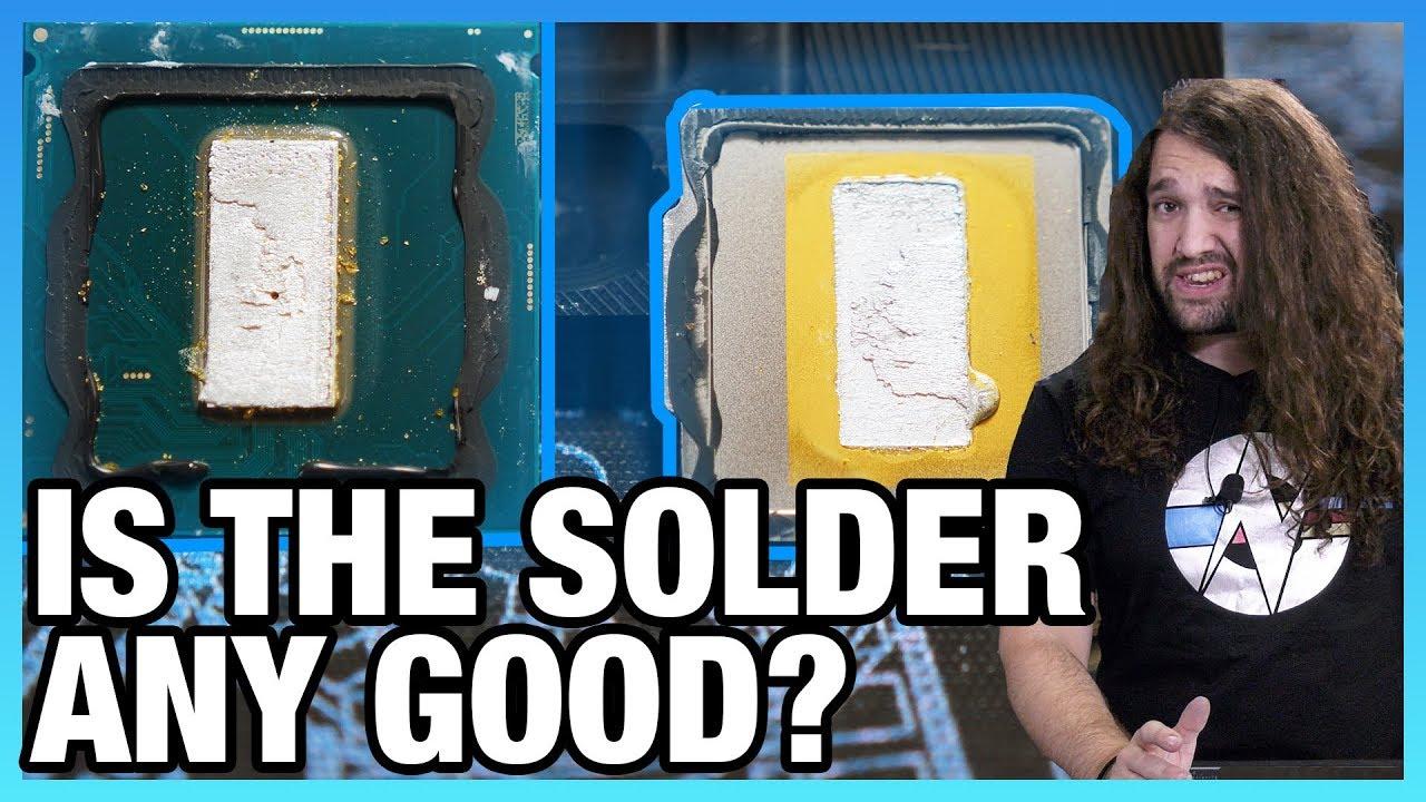 i9-9900K Review & Delid: Solder vs  Paste, Game Streaming Benchmarks