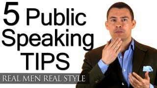 5 Tips To Improve Your Public Speaking - How To Speak Professionally - Speech Speaker Tips thumbnail