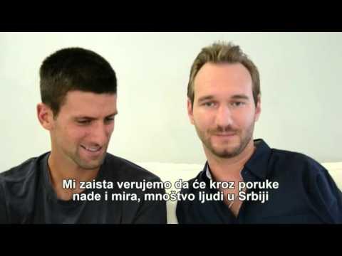 Nik Vujičić i Novak Đoković