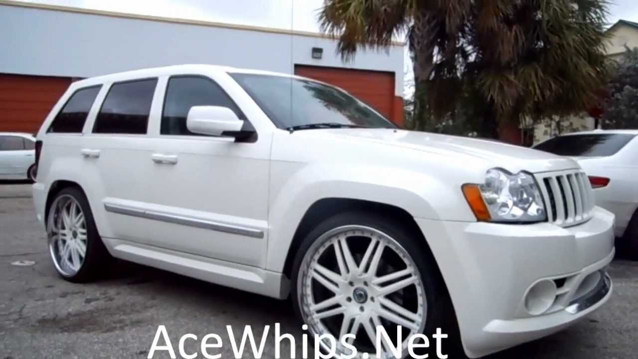 "Jeep Grand Cherokee Overland >> AceWhips.NET- Jeep Grand Cherokee STR8 on 24"" Asantis - YouTube"