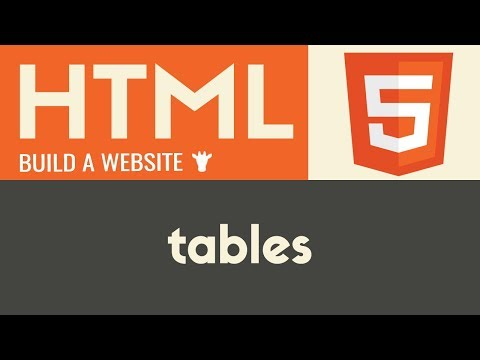 Tables | HTML | Tutorial 12