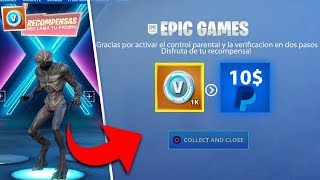 FREE CLAIM 1000 PAVOS 10$ that GIVES FORTNITE TO ALL PLAYERS!