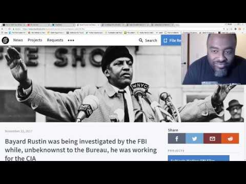 Bayard Rustin civil rights activist investigated by the FBI while working for the CIA