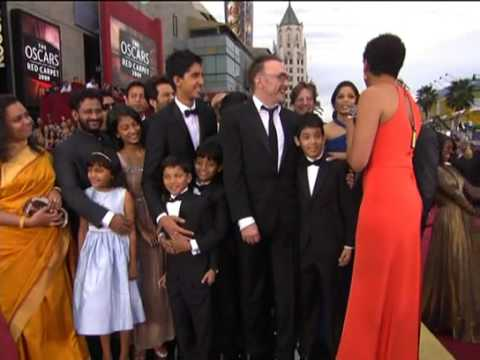 OSCAR 2009 Red Carpet walk - Slumdog Millianaire Kid actors - Slum to OScars - HQ