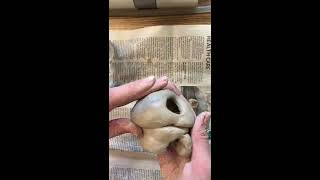How to make a mushroom house out of clay