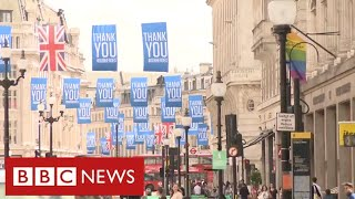 Public show of support for NHS on 72nd anniversary - BBC News