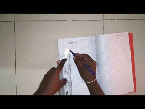 NaCl CRYSTAL STRUCTURE DIAGRAM AND APF CALCULATION EXPLANATION IN HINDI