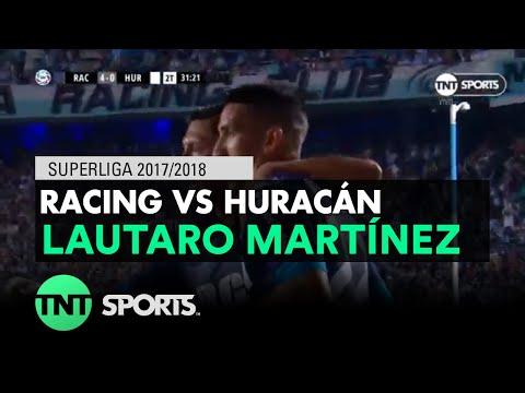 Lautaro Martínez (4-0) Racing vs Huracán   Fecha 14 - Superliga Argentina 2017/2018