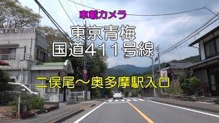 【バイク車載カメラ】東京青梅 二俣尾~奥多摩入口(国道411)