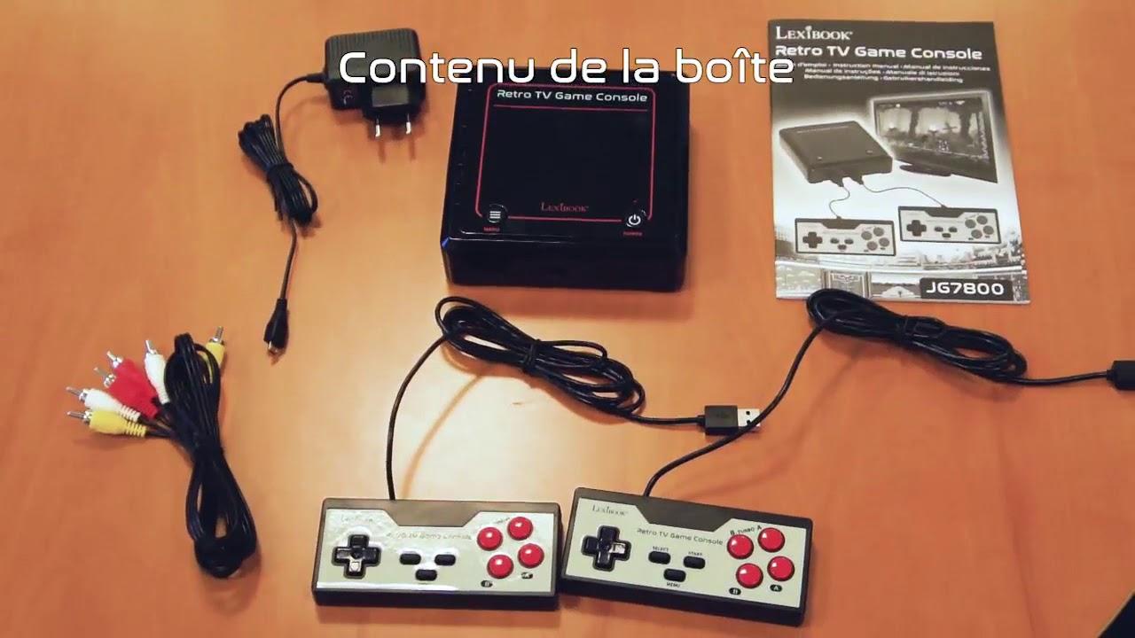 Unboxing jg7800 console de jeux tv plug n play lexibook hd youtube - Console de jeux lexibook ...