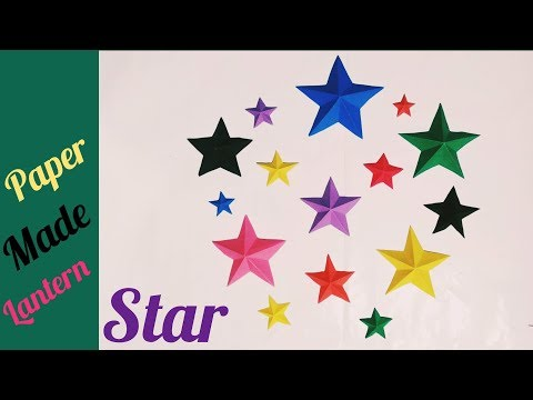How to make Star Lantern kandil for diwali & home decoration || Paper made beautiful Star idea