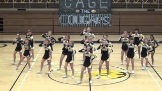 bcluw high school cheerleaders homecoming 2014