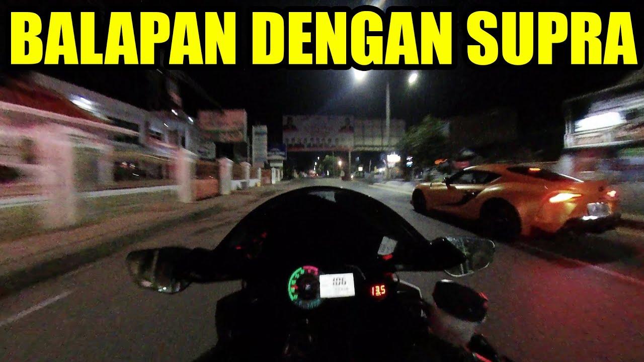Toyota GR Supra VS Kawasaki ZX6R Lampung | Bro Omen