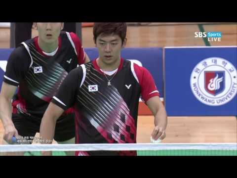 Nice Quality Badminton Lee Yong Dae / Yoo Yeon Seong (KOR) vs Ko Sung Hyun / Shin Baek Che
