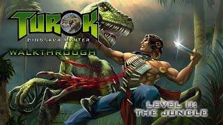 turok dinosaur hunter walk through on hard level ii the jungle all secret locations