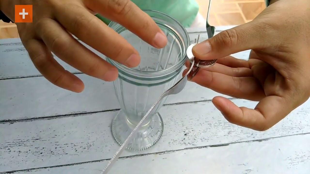 EXPERIMENT: Garpu Mengambang Diatas Koin dan Gelas, Waw !!