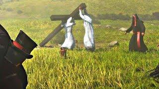 Red Dead Redemption 2 - Cross Falls On KKK & Grand Wizard Boss Fight (Second Encounter)